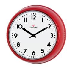 Zassenhaus 72723 Retro Wand-Uhr, Durchmesser 24 cm, rot - 1