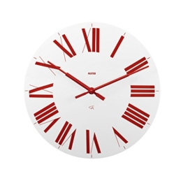 "14.17"" Firenze Wall Clock Color: White / Red by Alessi - 1"
