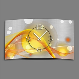 Abstrakt gelb orange Designer Wanduhr modernes Wanduhren Design leise kein ticken dixtime 3D-0048 - 1
