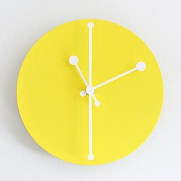 Alessi ABI11 Y Wanduhr, Stahl, epoxidharzlackiert, gelb, 20 x 20 cm - 2