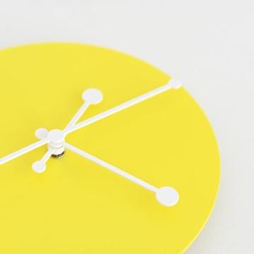 Alessi ABI11 Y Wanduhr, Stahl, epoxidharzlackiert, gelb, 20 x 20 cm - 3