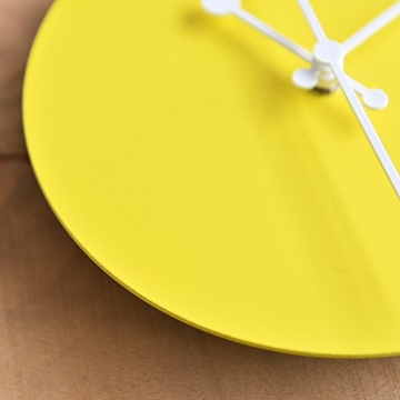 Alessi ABI11 Y Wanduhr, Stahl, epoxidharzlackiert, gelb, 20 x 20 cm - 5