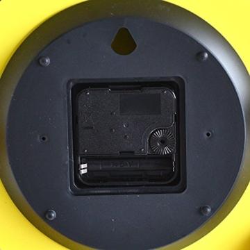 Alessi ABI11 Y Wanduhr, Stahl, epoxidharzlackiert, gelb, 20 x 20 cm - 6