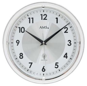 AMS F5945 Funk-Wanduhr, Holz, Mehrfarbig, 35 x 35 x 12 cm - 1