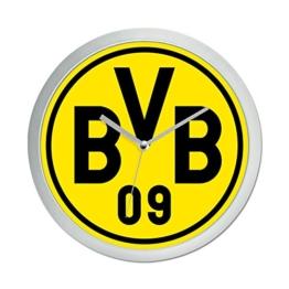 Borussia Dortmund BVB Wanduhr, Plastik, Schwarz/gelb, 25 x 25 x 5 cm - 1