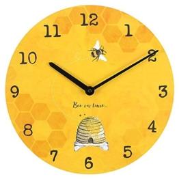 Brown & Ginger Biene auf Zeit 34cm Biene Helle warme Sonnenschein-Gelb-Wanduhr - 1