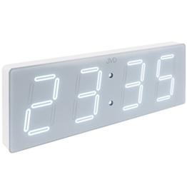 JVD DH1.4 Digitale Wanduhr LED weiß grau mit Stromanschluss - 1