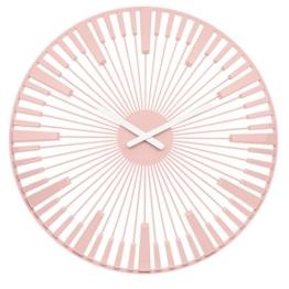 Koziol Piano Wanduhr, Uhr, Quarzuhrwerk, Dekoration, Deko, Kunststoff, Powder Pink, 45 cm, 2340638 - 1