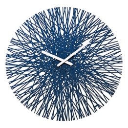 Koziol Silk Wanduhr, Kunststoff, Deep Velvet Blue, 44.8 x 44.8 x 3.5 cm - 1