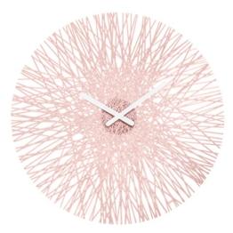 Koziol Silk Wanduhr, Uhr, Quarzuhrwerk, Dekoration, Deko, Kunststoff, Powder Pink, 44.8 cm, 2328638 - 1