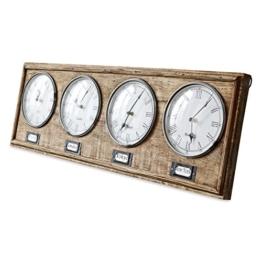 Loberon Uhr Posey, Mangoholz, H/B/T ca. 25/76 / 3 cm, braun - 1