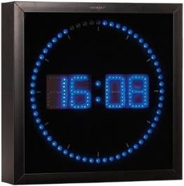 Lunartec LED Wanduhr groß: LED-Wanduhr mit Sekunden-Lauflicht aus blauen LEDs (LED Wanduhr Digital) - 1