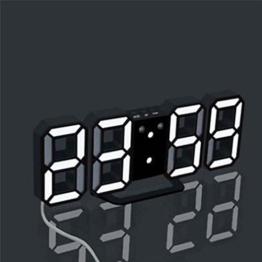 Nacht Wanduhr, Sansee Moderne digitale LED Tisch Schreibtisch Nacht Wanduhr Alarm Uhr 24 oder 12 Stunden Display (A) - 1