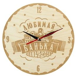 Sauna Wanduhr Ø25 см Часы банные Любимая банька! - 1
