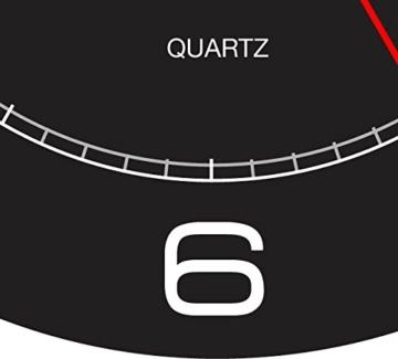 UNILUX 400094568 riesen Wanduhr Mega in schwarz - große Wanduhr, deutsche Präzision mit Quarzwerk, Analoge Uhr für große Räume - 3