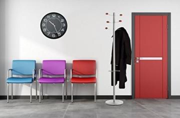 UNILUX 400094568 riesen Wanduhr Mega in schwarz - große Wanduhr, deutsche Präzision mit Quarzwerk, Analoge Uhr für große Räume - 4