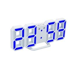 VORCOOL 3D Zahlen LED Digital Wecker Nachtlicht Wanduhr mit Snooze Timer Große Anzahl Wecker für Schlafzimmer - 1