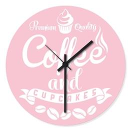 Wandkings Wanduhr mit farbenfrohen Motiven - Wähle ein Motiv - Coffee and Cupcakes Rosa - 1