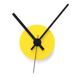 """Wandkings Wanduhr SOLO CLOCK """"Scheibe"""" mit Uhrwerk & Uhrzeigern - in 13 Farben erhältlich (Farbe: Uhr=Gelb glänzend, Zeiger=Schwarz) - 1"""