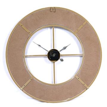 Wanduhr Groß XXL Lautlos, CT-Tribe Große XXL Metall MDF Ø60cm Wohnzimmer Wanduhr Riesen Vintage Uhr Wall Clock ohne Tickgeräusche - 4