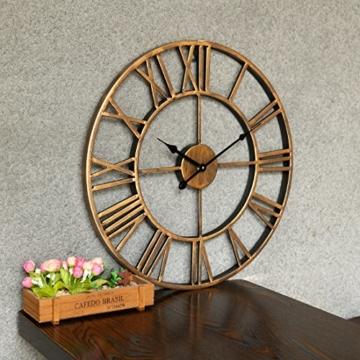 Wanduhr Vintage, Foxom Ø 50cm Vintage Wanduhr Küchenuhr Uhr Uhren Wall Clock ohne ca. Ø 20 Zoll/50cm (Golden) - 3
