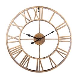 Wanduhr Vintage, Foxom Ø 50cm Vintage Wanduhr Küchenuhr Uhr Uhren Wall Clock ohne ca. Ø 20 Zoll/50cm (Golden) - 1
