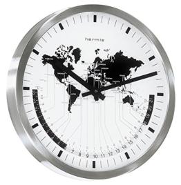Wanduhren-Standuhren-Edelstahl-gewölbtem-Frontglas - 1