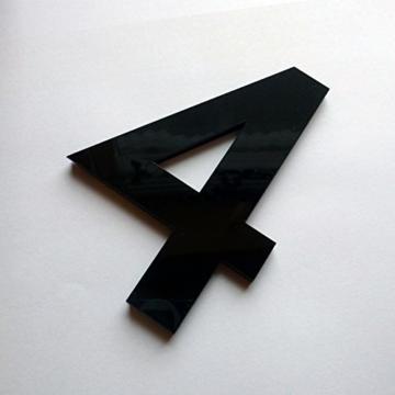 XXL 3D Schwarze Riesen Designer Wanduhr Wohnzimmer Dekoration Wandtatoo aus Acryl - 5