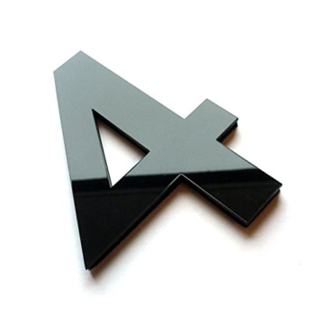 XXL 3D Schwarze Riesen Designer Wanduhr Wohnzimmer Dekoration Wandtatoo mit deutschem Zifferblatt aus Acryl - 4