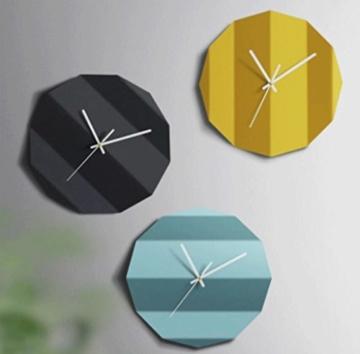 YYF Wanduhr Kreative Wanduhr Dekorative Wohnzimmer Moderne einfache Kunst Stylish Mute Individuelle Origami Uhr ( Farbe : Gelb ) - 2