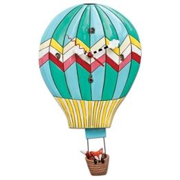 Allen Designs P1504Wanduhr, Heißluftballon, Mehrfarbig, 38cm - 1