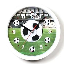 Atlanta Wanduhr Fußball Fan WM mit Musik Gesang Blinklicht 4482 - 1