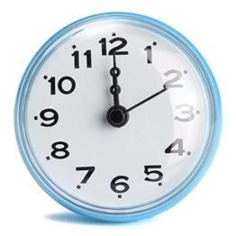 Cisixin Badezimmer wasserdichte Uhr Sucker Küche Bad elektronische Anti-Fog-Wanduhr Uhr - 1