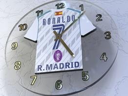 CRISTIANO RONALDO - REAL MADRID C.F. FUSSBALL SHIRT WANDUHR !!!!! - 1
