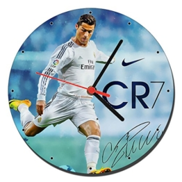 Cristiano Ronaldo Real Madrid CR7 Wanduhren Wall Clock 20cm - 1