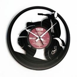 "Disc'o'clock Design Wanduhr aus Schallplatte - Motiv: ""Vespa"", Vinyl - 1"