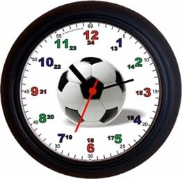 Lucky Clocks LERNUHREN FUSSBALL SCHULANFANG Wanduhren - 1