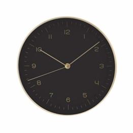 LUUK LIFESTYLE hochwertige, Schlichte Nordic Design Minimal Quarz Wanduhr mit Sekundenzeiger, Küchenuhr, Wohnzimmer Uhr, Büro Wanduhr, Flur, schwarz - 1