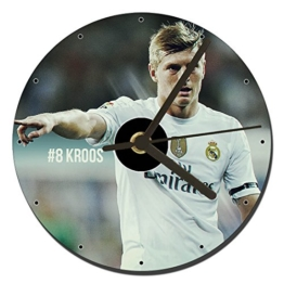 MasTazas Real Madrid Toni Kroos Tischuhren CD Clock 12cm - 1