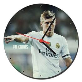 MasTazas Real Madrid Toni Kroos Wanduhren Wall Clock 20cm - 1