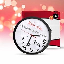 Monsterzeug Chaotische Uhr, kreative Wanduhr mit Worten Macht Nichts, ich komme sowieso zu spät, Zeigeruhr für zu spät Kommer, Coole Uhr mit verrücktem Ziffernblatt - 1