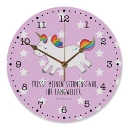 Mr. & Mrs. Panda 30 cm Wanduhr Einhorn Happy - 100% handmade in Norddeutschland - Einhorn, Einhörner, Unicorn, glücklich, fröhlich, Spaß, Freude, Lebensfreude, witzig, spannend, Lächeln, Lachen Wanduhr, Uhr, Kunderuhr, Kinderzimmer, Rund, Druck Einhorn, Einhörner, Unicorn, glücklich, fröhlich, Spaß, Freude, Lebensfreude, witzig, spannend, Lächeln, Lachen - 1