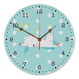 Mr. & Mrs. Panda 30 cm Wanduhr Einhorn Sternenhimmel - 100% handmade in Norddeutschland - Einhorn, Einhörner, Unicorn, Sterne, Dachschaden, Verrückt, Sternenhimmel, crazy, witzig, lustig Wanduhr, Uhr, Kunderuhr, Kinderzimmer, Rund, Druck Einhorn, Einhörner, Unicorn, Sterne, Dachschaden, Verrückt, Sternenhimmel, crazy, witzig, lustig - 1
