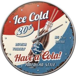 Nostalgic Art 51045 USA Have a Cola, Wanduhr, 31 cm - 1