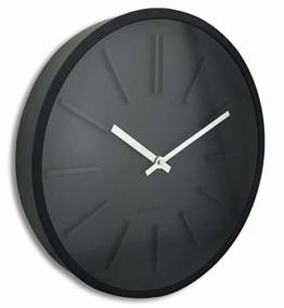 Orium 11045Goma Wanduhr Kunststoff schwarz 35x 4,8x 35cm - 1