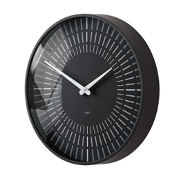 Sigel WU111 moderne, große Design-Wanduhr, Modell lox, schwarz, Ø 36 cm,  reddot design award 2014 Gewinner - 1