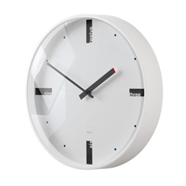 Sigel WU112 moderne, große Design-Wanduhr, Modell acto, weiß, Ø 36 cm, reddot design award 2014 Gewinner - 1
