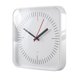 Sigel WU121 moderne, große Design-Wanduhr, Modell litho, weiß, 35x35 cm, reddot design award 2014 Gewinner - 1
