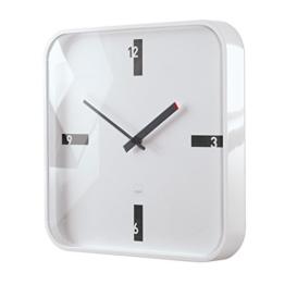 Sigel WU122 moderne, große Design-Wanduhr, Modell mezo, weiß, 35x35 cm, reddot design award 2014 Gewinner - 1