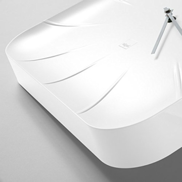 Sigel WU140 moderne, große Design-Wanduhr, Modell inu, weiß, 35x35 cm, reddot design award 2014 Gewinner - 2